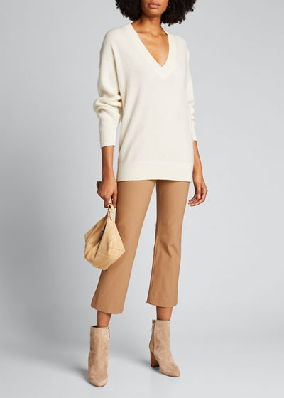 Mid-Rise Cropped Pants
