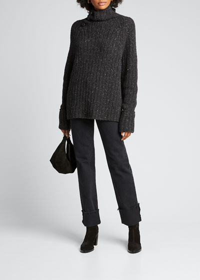 Klark Metallic Turtleneck Sweater