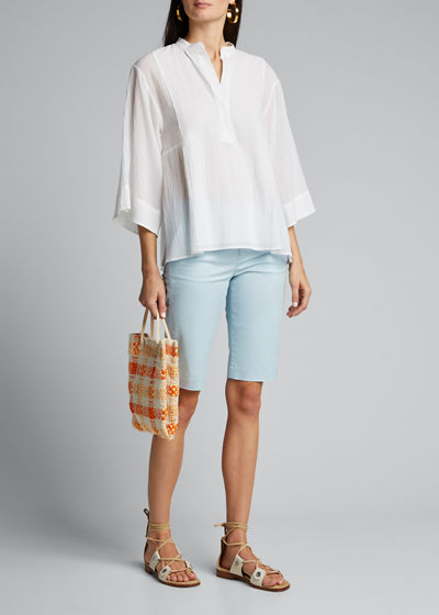 Coin Pocket Stretch Cotton Bermuda Shorts