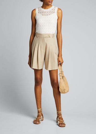 Dove Eyelet Sleeveless Sweater