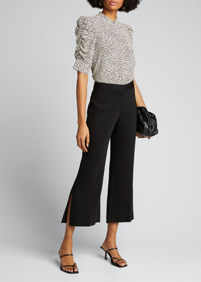 Angie Side-Slit Cropped Pants