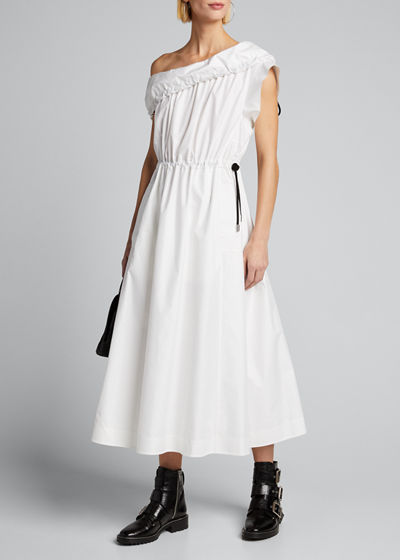 Cold-Shoulder Parachute Utility Dress