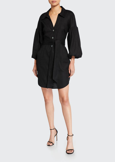 Samy Blouson-Sleeve Shirtdress