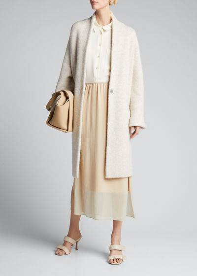Boucle Long Cardigan Coat