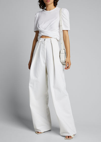 Monica Cropped Tie-Back Tee