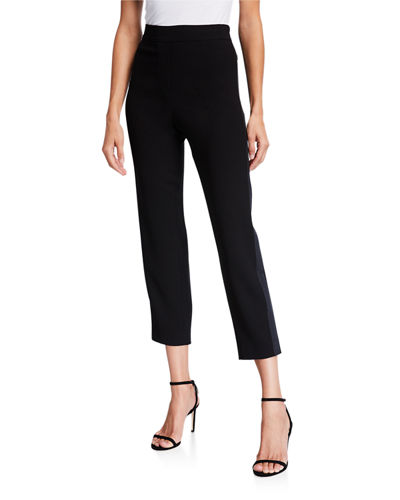 Willa Pull-On Straight-Leg Ankle Pant