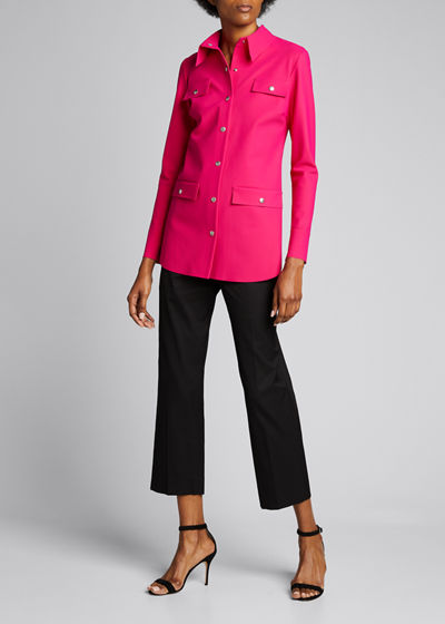 Feel Button-Front Shirt Jacket
