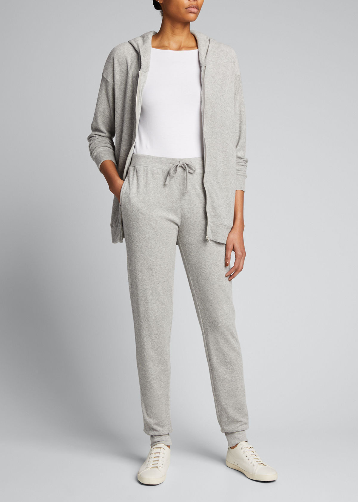Majestic COTTON-BLEED FRENCH TERRY ZIP-UP JACKET