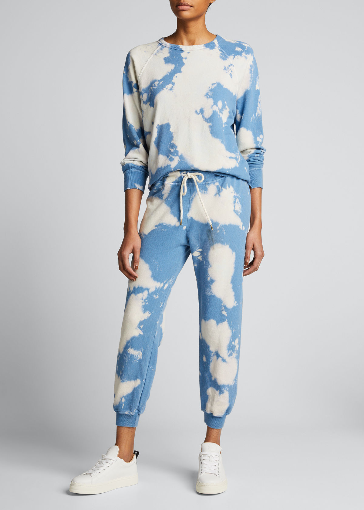 The Great Pants THE CROPPED TIE-DYE SWEATPANTS