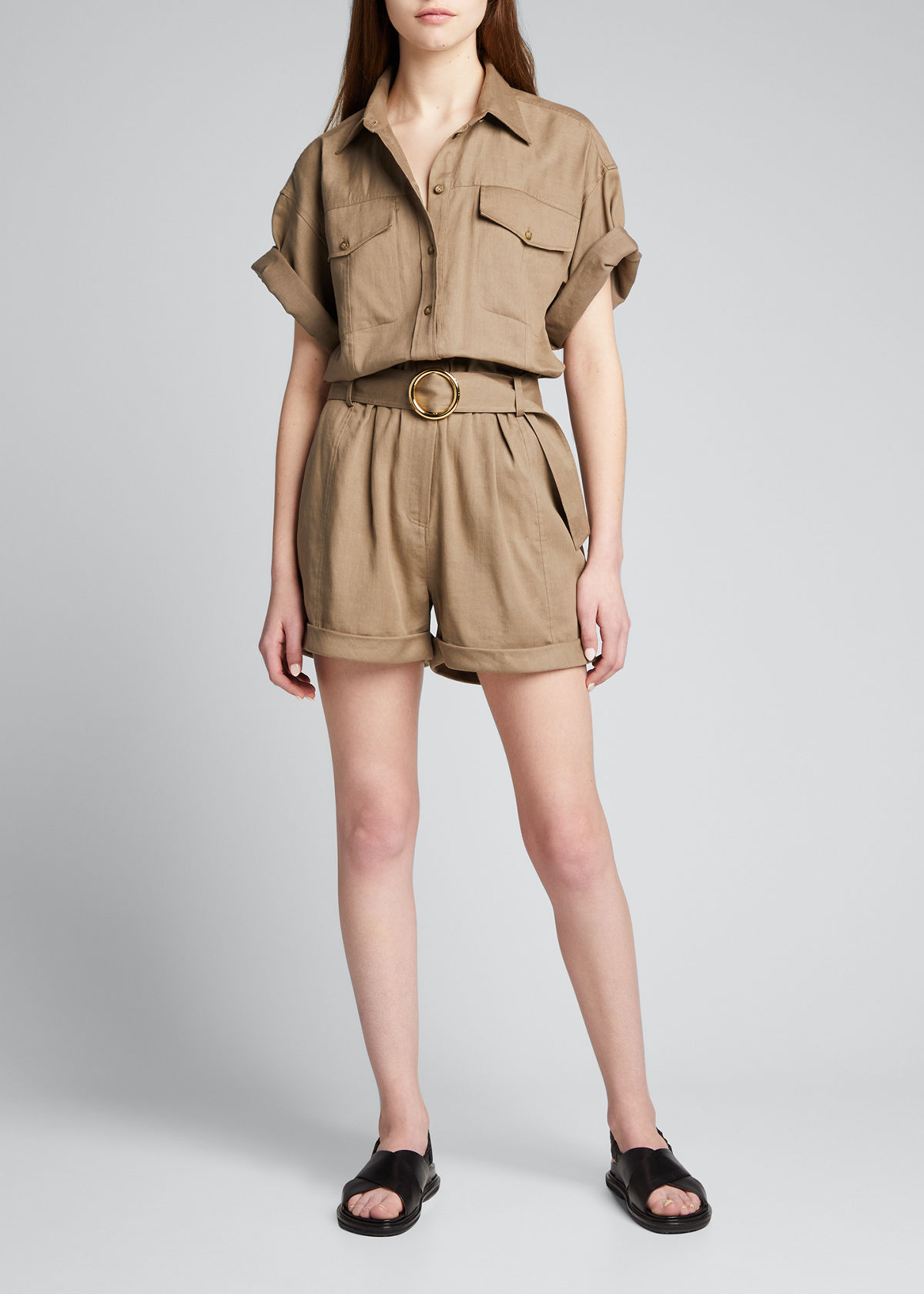 Frame Playsuits ARIE BELTED UTILITY ROMPER