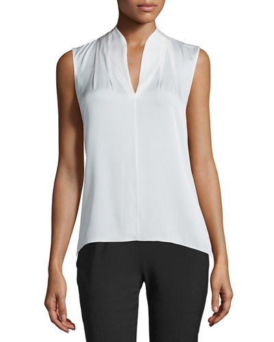 Judith Sleeveless Silk Blouse
