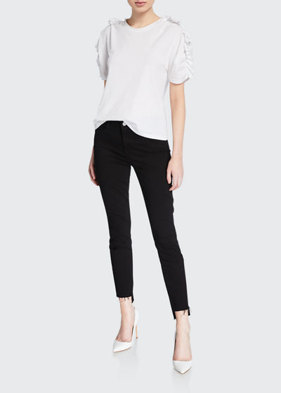 8a277562d63a Le Skinny de Jeanne Raw Stagger-Hem Jeans