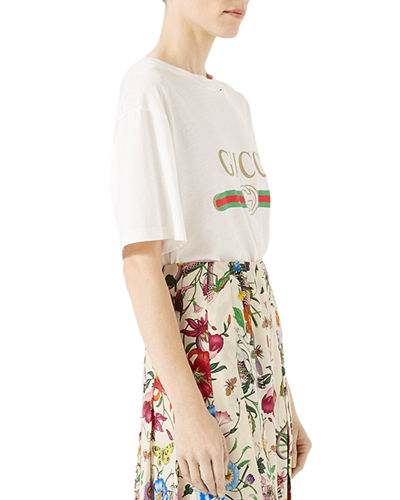 Gucci-Print Cotton Tee