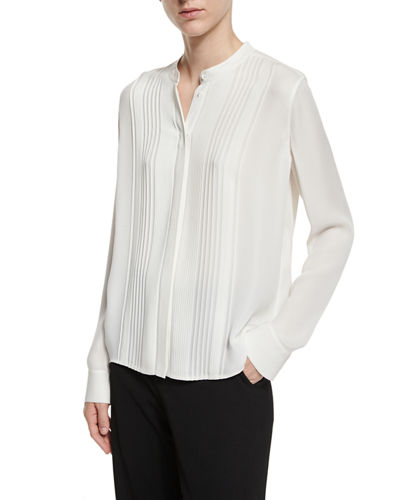 Clearance Many Kinds Of mandarin collar blouse - White Vince Sast Cheap Online Manchester Cheap Online Outlet Find Great CeOgcKwmwD