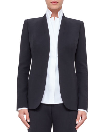 Shawl-Collar Wool Jacket