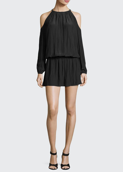 Lauren Cold-Shoulder Blouson Dress
