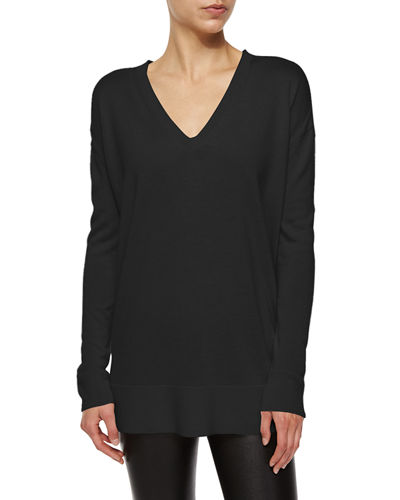 The Row Long Sleeve V-Neck Top Supply Online Authentic For Sale Outlet How Much ah8WX37