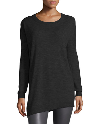 Asymmetric Cashmere Tunic Sweater