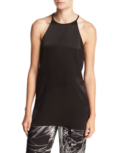 High-Neck Racerback Camisole Tunic