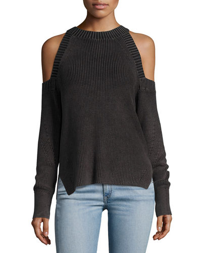 Rag & Bone Cold-Shoulder Knit Top Sale Order For Sale Online Sale 100% Authentic Best Place Online Cheap Sale For Nice fUhOmyVd