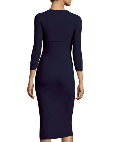 Serenity 3/4-Sleeve Sweetheart Knee-Length Cocktail Dress