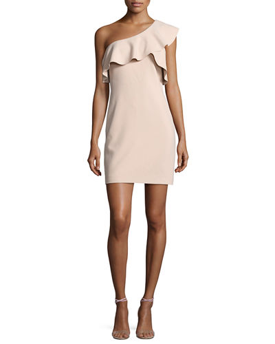 Jerard One-Shoulder Ruffle Ponte Dress