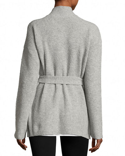 Cashmere Blend Belted Cardigan Sweater