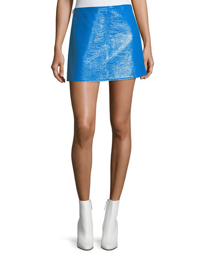 Coated Vinyl Mini Skirt
