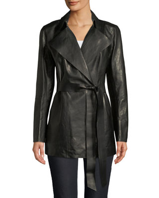 Lafayette 148 Asymmetric Leather Jacket