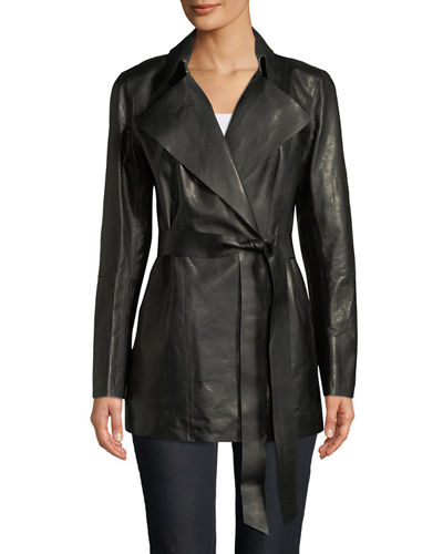 The Cheapest Online Collections Lafayette 148 Asymmetric Leather Jacket Visit New Pay With Visa Cheap Price 8LhNO