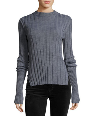 Theory Long Sleeve Mock Neck Sweater