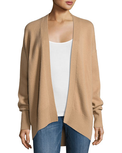 a0a3e093ff Theory Oversized Open-Front Cashmere Cardigan