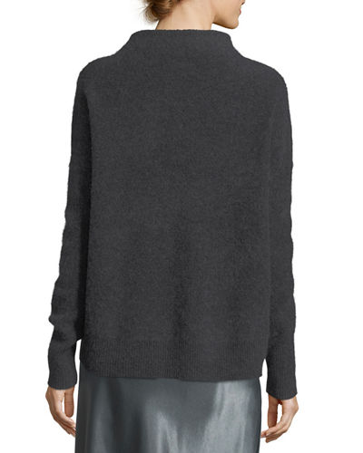 Funnel Neck Cashmere Pullover Sweater