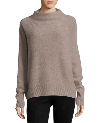 Vince Cashmeres FUNNEL-NECK CASHMERE PULLOVER SWEATER
