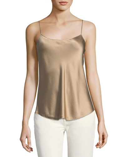 Satin Scalloped Camisole Top