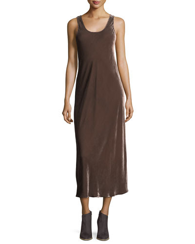 Sleeveless Velvet Tank Maxi Dress
