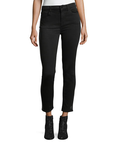Valencia Floral Lasered Skinny Ankle Jeans