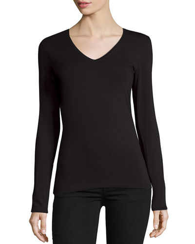 Soft Touch V-Neck Jersey Top