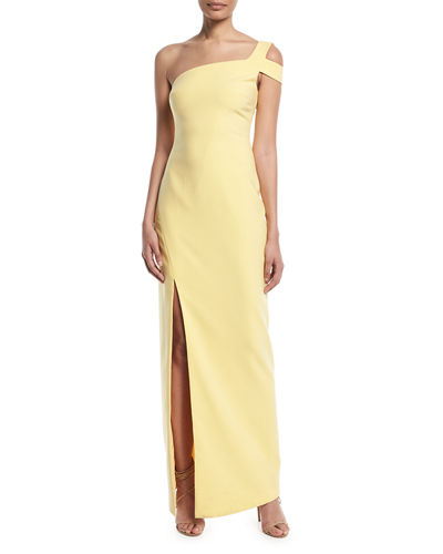 040807d4bd9bd Badgley Mischka Couture Crystal-Beaded Cape Trumpet Evening Gown
