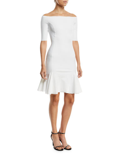 Omaira Off-the-Shoulder Cocktail Dress