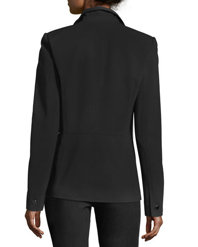 Lyndon Zip-Pocket Punto Blazer