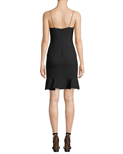 Banks Sleeveless Crepe Cocktail Sheath Dress