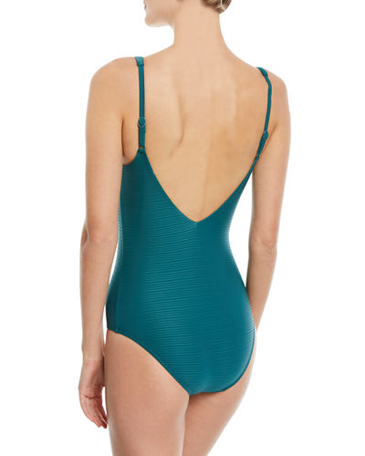 6951a3dc4df JETS by Jessika Allen Disposition Striped DD Underwire One-Piece ...