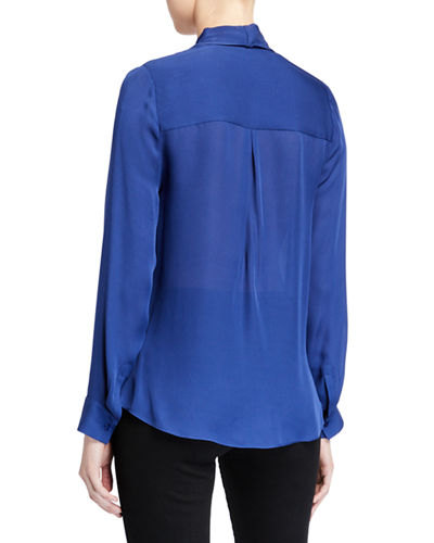 Mariposa Silk Crossover Blouse