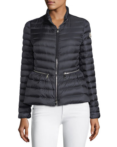 2e1535e7aae6 Agate Short Quilted Puffer Jacket Quick Look. NAVY. Moncler