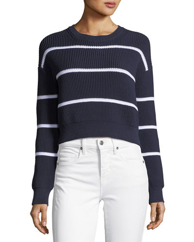 Racked Rib Pullover Sweater