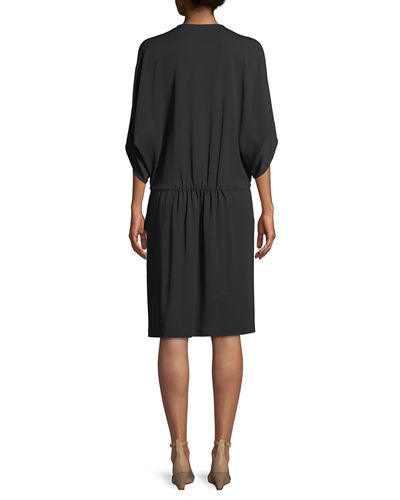 Lewis Drawstring-Waist Jersey-Crepe Dress