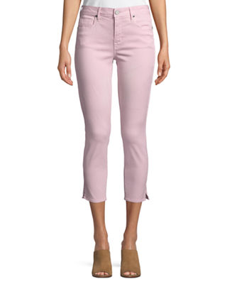 PARKER SMITH Pedal Pusher Straight-Leg Pants in Rose