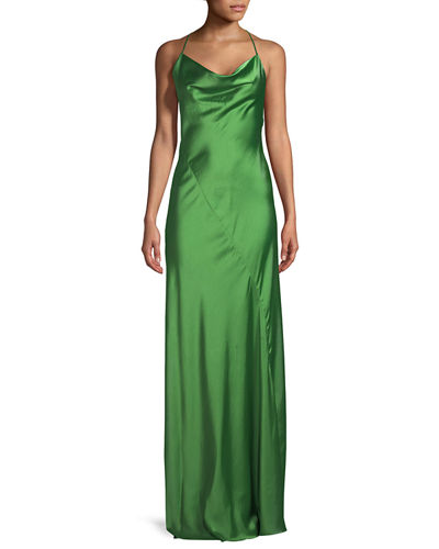 Cowl Neck Back Wedding Dresses: Diane Von Furstenberg Sleeveless Cowl-Neck Bias-Seam Satin