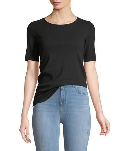 Crewneck Short-Sleeve Slim-Fit Tee